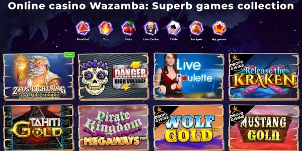 Wazamba game selection